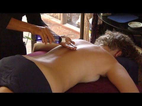 How To Give A Back Massage W  Oil; Relaxation Spa Massage Therapy Techniques video