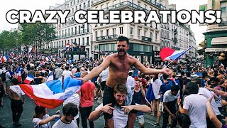 2018 WORLD CUP FINAL FRANCE vs. CROATIA IN PARIS! CRAZY CELEBRATIONS!