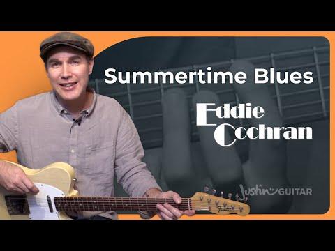 Summertime Blues - Eddie Cochran - Beginner Easy Guitar Lesson (SB-429) How To Play