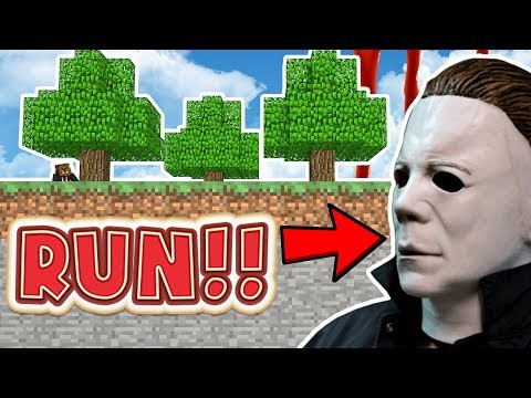MIKE CHASES US THROUGH A MALL | Minecraft - Mod Battle (MIKE MYERS)