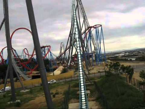 Shambhala - Port Aventura 2012 - Front seat onride POV video! Europe tallest roller coaster!