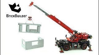 Lego Technic 42082 Rough Terrain Crane - Lego Speed Build