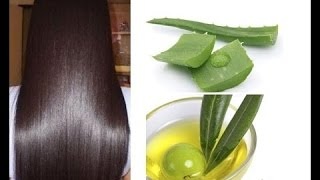 How to get long and straight hairshiny hairAloe Vera Egg Conditioner