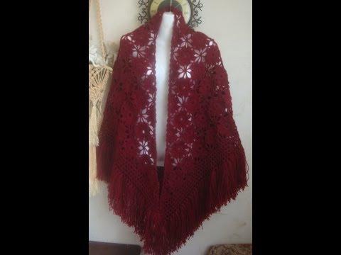 ќчень простой и красивый мотив дл¤ шали.Beautiful motif for shawls