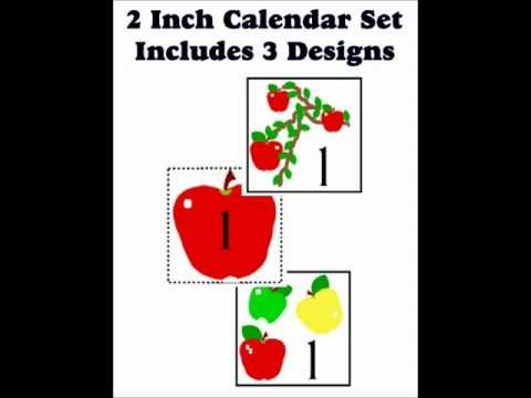 Calendar Cover-Ups for use with Circle Time or Memory Game Lotto at Dollar Store Teacher