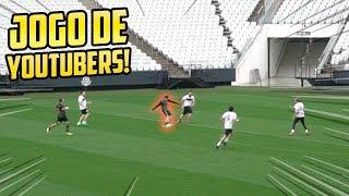 JOGO DE FUTEBOL NO ESTÁDIO PROFISSIONAL COM YOUTUBERS!! - JOGO REAL