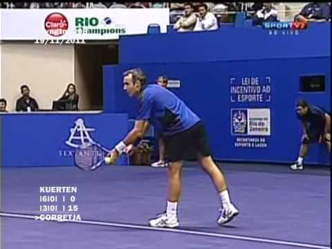 Guga Kuerten vs Alex Corretja - Friendly Match (Rio Champions 2011) - 4/9