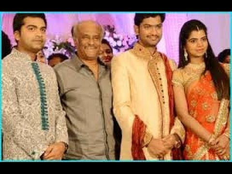 Rajini, Kamal, Vijay And More Celebrities Attended Simbu Sister T.r. Ilakiya's Wedding Reception. video