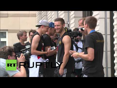 Germany: World Cup heroes walk among the common people