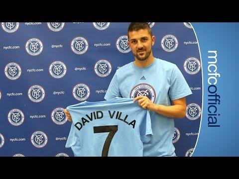 VILLA SIGNS FOR NYCFC | Exclusive interview as David Villa signs for New York City Football Club