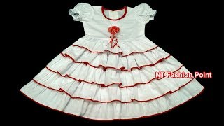 Kids baby summer ruffle dress | Beautiful baby dress | Cutting & stitching