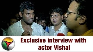 Exclusive: Actor Vishal's Interview after winning Producers Council Elections