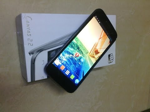 Micromax Canvas 2.2 A114 Unboxing and Hands-on