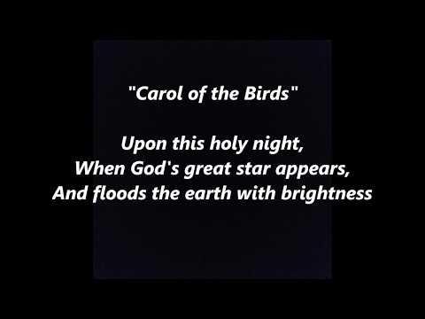 CAROL of the BIRDS CAROL CHRISTMAS CATALAN LYRICS WORDS El cant dels ocells CARRERAS SING ALONG