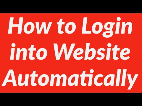 How To Login Into Website Automatically Using Vba Youtube