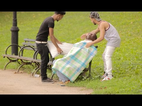 PUTTING STRANGERS TO SLEEP PRANK!