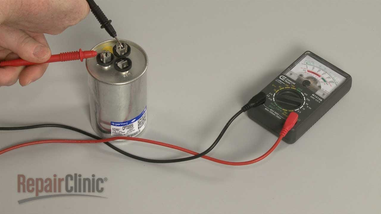 Check Ac Capacitor With Multimeter : Capacitor testing youtube