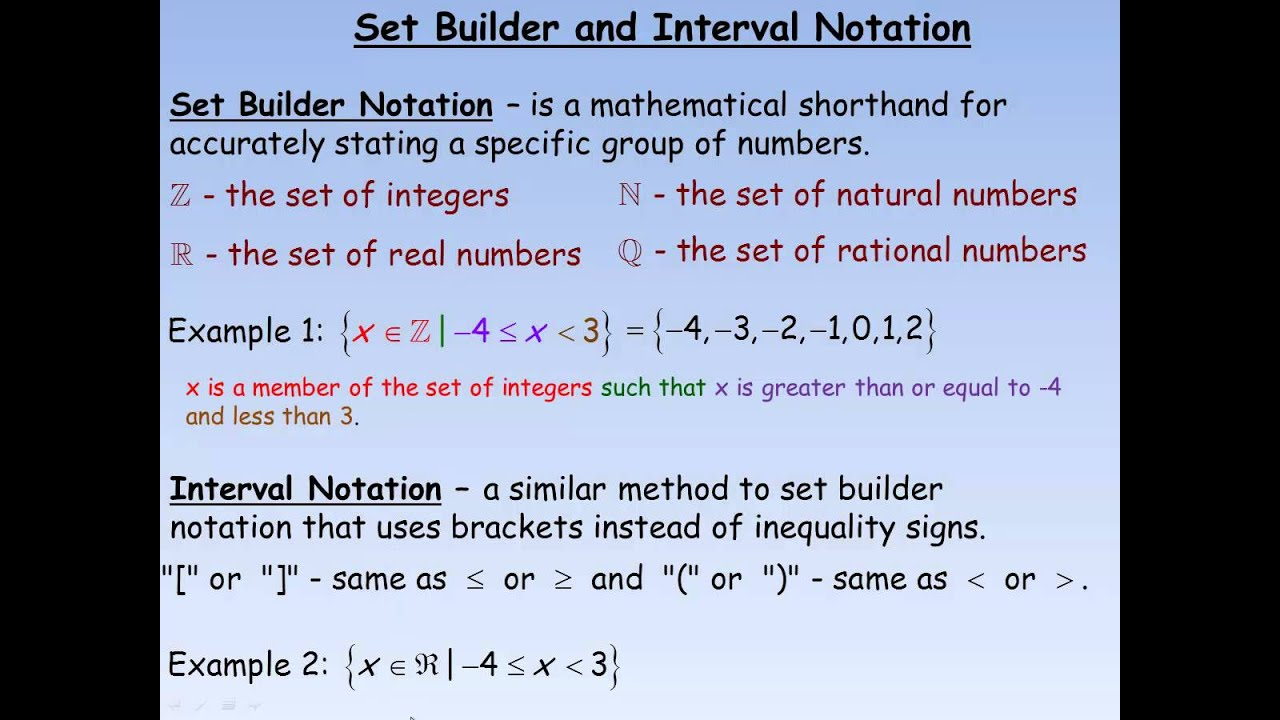 how to find the range using interval notation