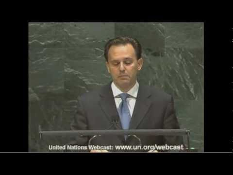Greek FM Droutsas' speech to the UN General Assembly