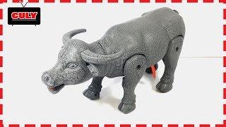 Đồ chơi Con Trâu đen biết đi chạy pin Animals Elephant Buffalo toy for kids