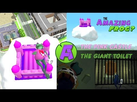 Amazing Frog on OUYA Pink Castle and Giant Toilet