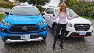 Toyota RAV4 VS Subaru Forester Comparison // RAV4 Trail (Adventure) or Subaru Forester Sport?