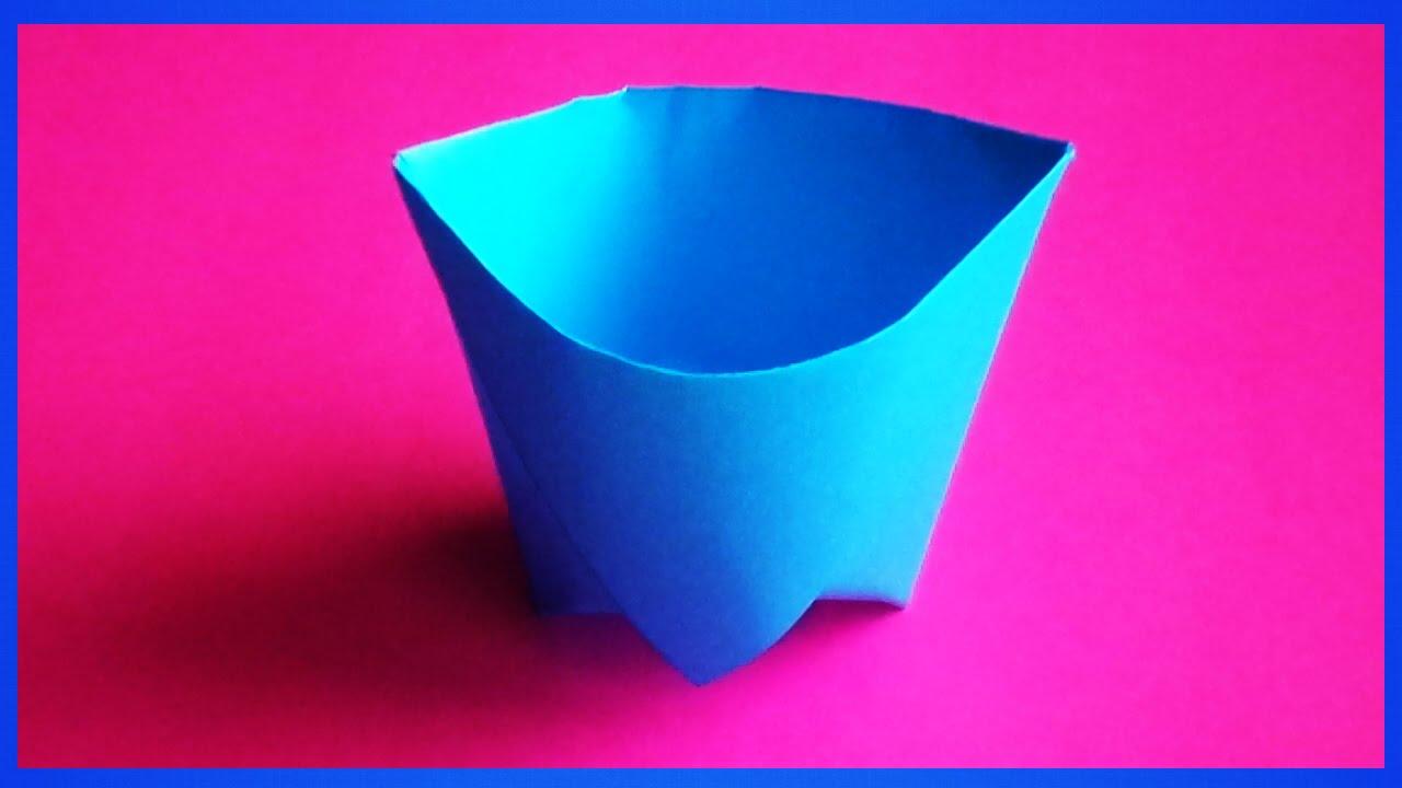 Сделать стакан оригами