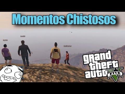 GTA 5 Online Momentos Chistosos - Caidas, Tren, Sanchez, Montañas