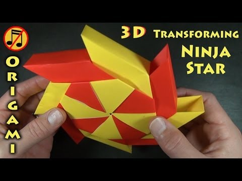 3-D Transforming Ninja Star by Ray Bolt (No Music)