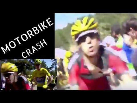 RITCHIE PORTE, CHRIS FROOME MOTORBIKE CRASH!