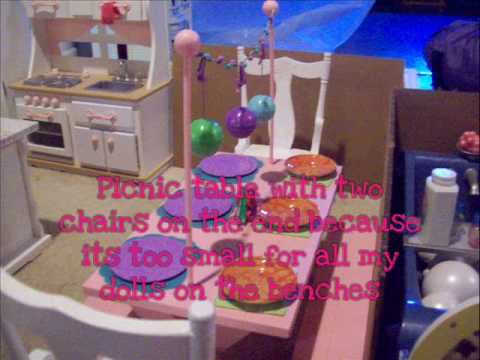 My American Girl Doll House Video