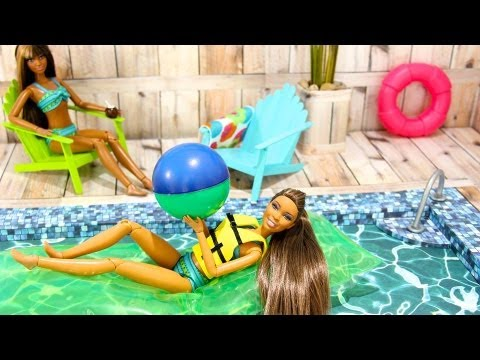 How To Make A Doll Swimming Pool video