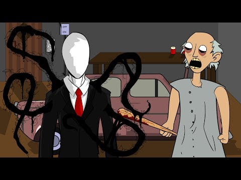 GRANNY THE HORROR GAME ANIMATION #15 : Slenderman and The Scary Granny