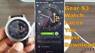 Top Galaxy Watch/ Gear S3/Gear Sport Watch Faces You Must Download 2018