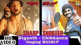 Sharp Shooter - Kannalle - Mashup Song Making | feat. Diganth, Chikkanna