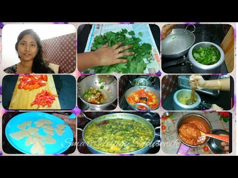 Indian Mom Afternoon Lunch Routine with Gongura pappu,Spicy Tomato Chutney by Smart Telugu Housewife