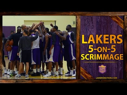 Lakers Practice Footage: 5-On-5 Scrimmage, Kobe Bryant, Steve Nash, Jeremy Lin