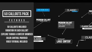 Callout Pack - After Effects Template - Videohive
