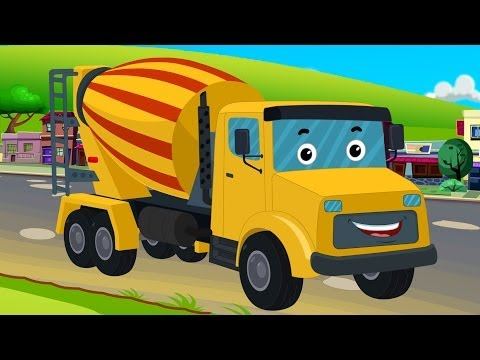Kids Channel Cement Mixer | Vehicles For Kids