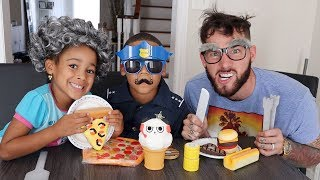 Police Kid Restaurant with Greedy Granny and Greedy Grandpa | Kids Pretend Play | FamousTubeKIDS