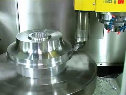 high speed precision milling 5 axis cnc Breton Ultrix impeller