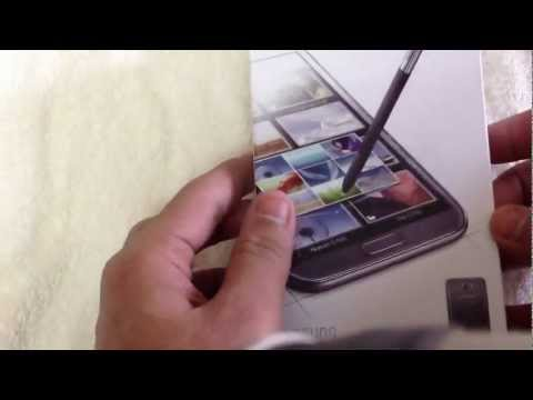 Unboxing Samsung Galaxy Note 2 (Titanium Grey)