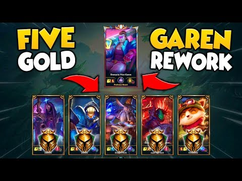 *CRAZIEST 1V5 EVER* NEW REWORKED GAREN VS. 5 GOLD PLAYERS (65+ KILL MADNESS) - League of Legends