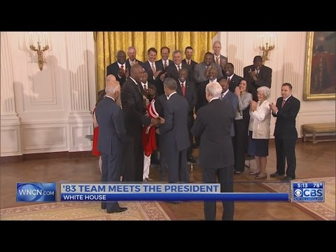 NC State's '83 championship team visits President Obama