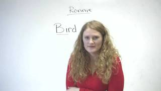Pronunciation - Words starting with B (bird, beard, bear, bare...)