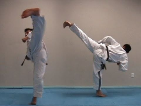 Kick Techniques Taekwondo Taekwondo Side Kick Tutorial
