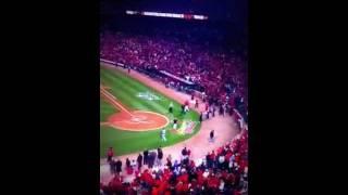 Bob Forsch 1st pitch - Game 7 World Series 2011