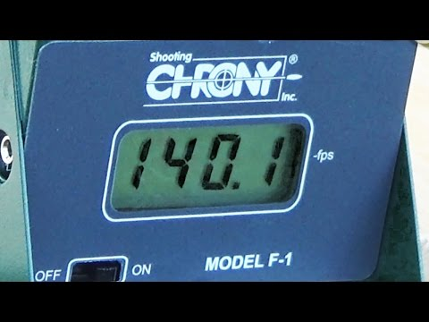 40lb Recurve Crossbow Chronograph and Energy test
