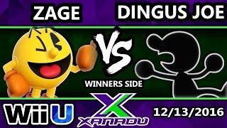 S@X 180 - Zage (Pac-Man) Vs. Dingus Joe (G&W) - SSB4 Tournament - Smash for Wii U - Smash 4