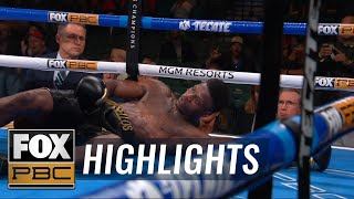 Dustin Long drops Marsellos Wilder with massive left hook | HIGHLIGHTS | PBC ON FOX